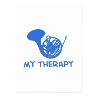 Französisches Horn meine Therapie Postkarte