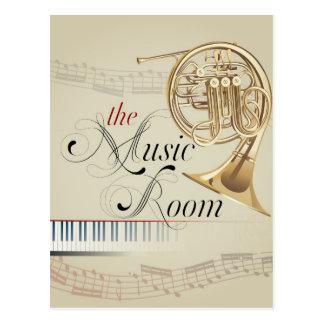 Französisches Horn-Musik-Raum Postkarte
