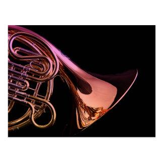 Französisches Horn-Musikinstrument-Bild Postkarte