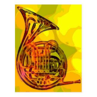 Französisches Horn Postkarten