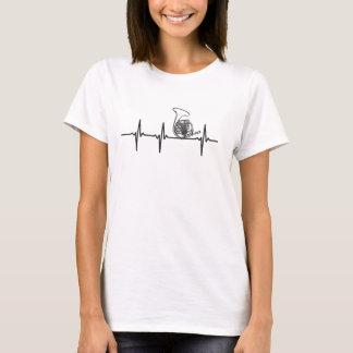 Französisches Horn-Rettungsleine-T - Shirt -