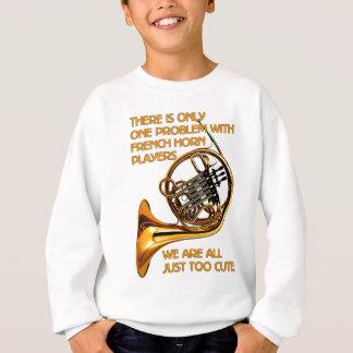 Französisches Horn-Süsse Sweatshirt