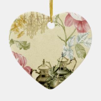 Französisches Keramik Herz-Ornament