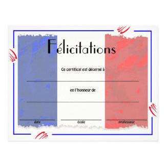 Französisches Klassen-Zertifikat der Leistung Flyer