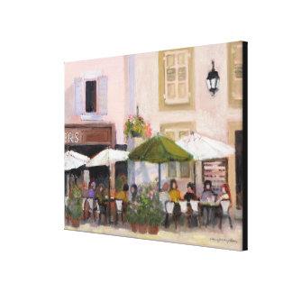 Französisches Land-Café Gespannte Galerie Drucke