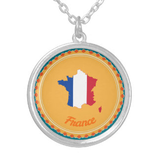 Französisches Land Versilberte Kette