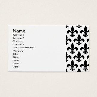 Französisches Lilie Muster-Pariser Entwurf Visitenkarte