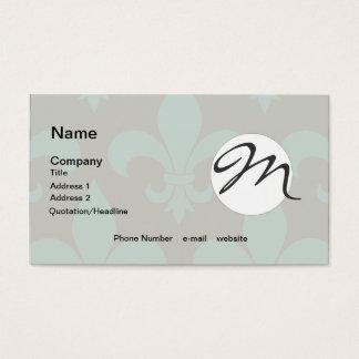 Französisches Lilien-Monogramm Trendy Paris Visitenkarte
