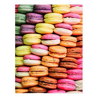 Französisches macaron postkarte
