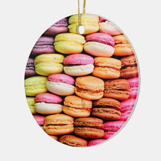 Französisches macaron rundes keramik ornament