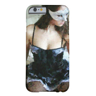 Französisches Mädchen, das 01 malt Barely There iPhone 6 Hülle