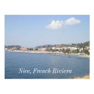 Französisches Riviera, Nizza, französisches Postkarte