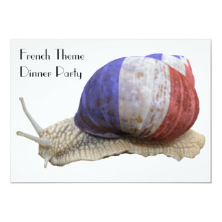 Französisches Thema-Abendessen-Party mit Schnecke 12,7 X 17,8 Cm Einladungskarte