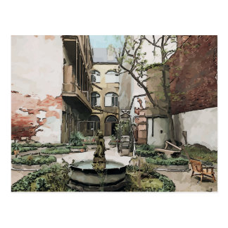 Französisches Viertel-Hof Postkarte