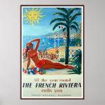 Französisches Vintages Reise-Plakat Rivieras