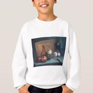 Französisches Zwiebel-Korb-und Vasen-Stillleben Sweatshirt