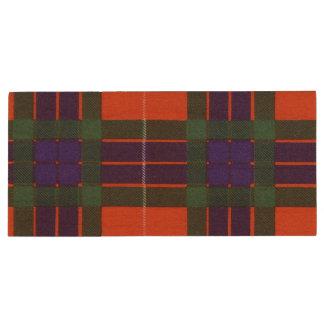 Fraser Clan karierter schottischer Tartan Holz USB Stick
