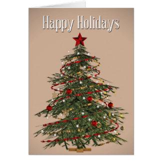 Fraser Tannen-Weihnachtsbaum-Karte Karte