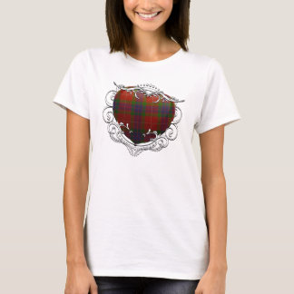 Fraser Tartan-Herz T-Shirt