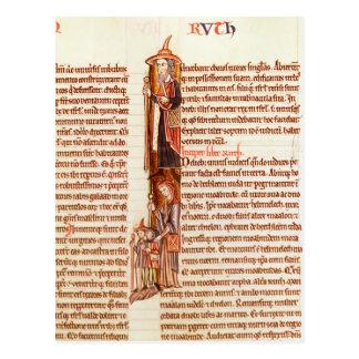 Frau 21 fol.97 Ruth und Boaz, von einer Bibel Postkarte