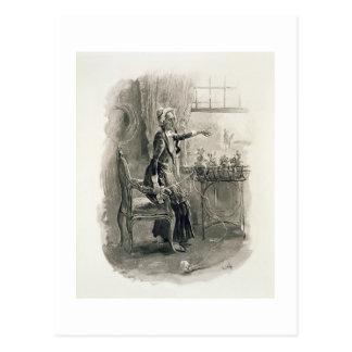 Frau Betsy Trotwood, von 'Charles Dickens: Ein Postkarte