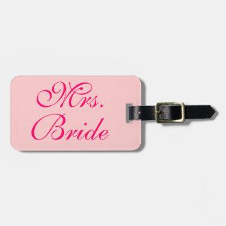 Frau Bride Customized Wedding Honeymoon Kofferanhänger