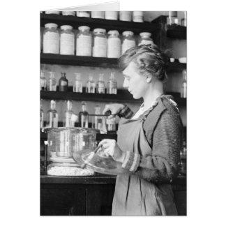 Frau Chemist, 1919 Karte