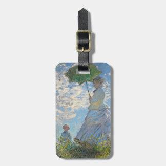 Frau Claude Monets | mit einem Sonnenschirm Kofferanhänger