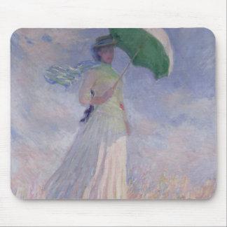 Frau Claude Monets | mit einem Sonnenschirm nach Mauspad