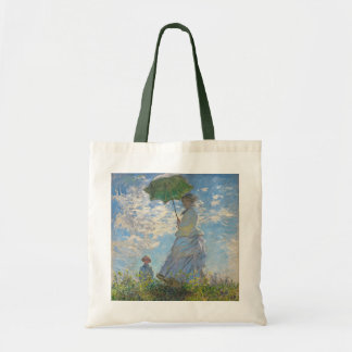 Frau Claude Monets | mit einem Sonnenschirm Tragetasche