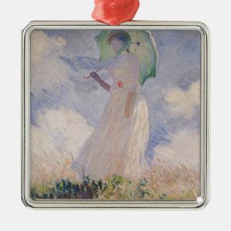 Frau Claudes Monet | mit dem Sonnenschirm gedreht Silbernes Ornament