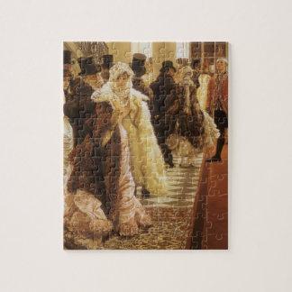 Frau der Mode durch Tissot, Vintage viktorianische Puzzle