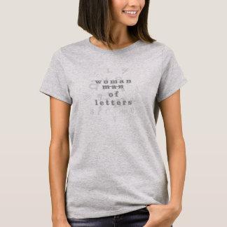 Frau des Buchstabe-Spaß-T-Shirts für Gelehrte T-Shirt