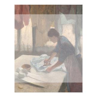 Frau, die durch Edgar Degas bügelt