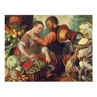 Frau, die Gemüse, 1567 (Öl, verkauft auf Leinwand) Postkarte