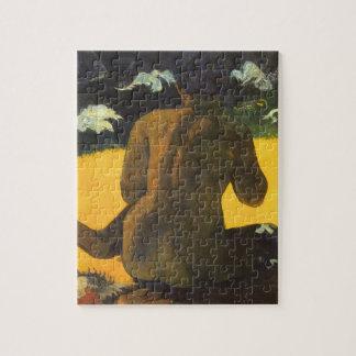 Frau durch das Meer durch Paul Gauguin, Vintage Puzzle