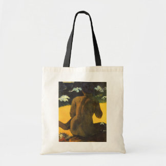 Frau durch das Meer durch Paul Gauguin, Vintage Tragetasche