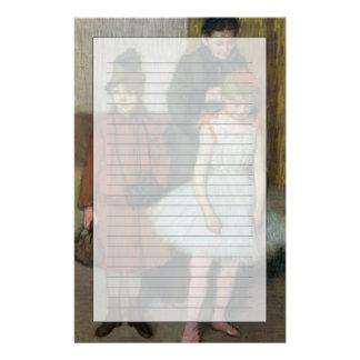 Frau Edgar Degass | mit zwei kleinen Mädchen Briefpapier