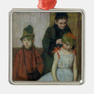 Frau Edgar Degass   mit zwei kleinen Mädchen Silbernes Ornament