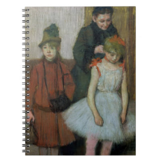 Frau Edgar Degass | mit zwei kleinen Mädchen Spiral Notizblock