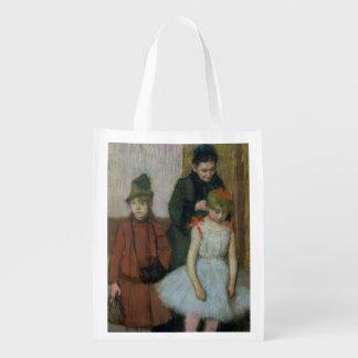 Frau Edgar Degass | mit zwei kleinen Mädchen Wiederverwendbare Einkaufstasche
