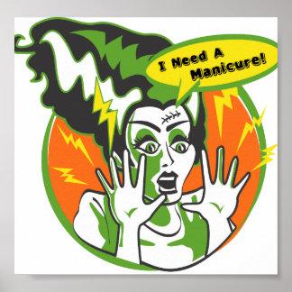 Frau Frankenstein Needs eine Maniküre Plakatdruck