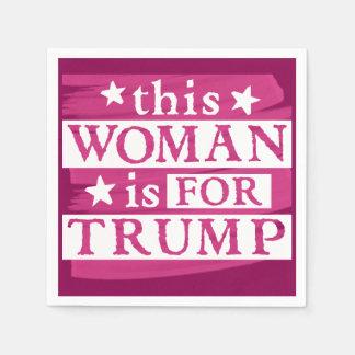 Frau für TRUMPF themenorientierte Papierservietten