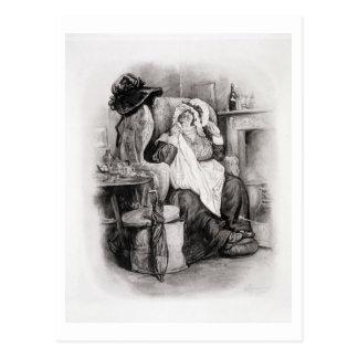 Frau Gamp, von 'Charles Dickens: Ein Klatsch über Postkarte