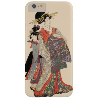 Frau im bunten Kimono (Vintager Japanerdruck) Barely There iPhone 6 Plus Hülle