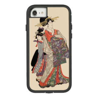 Frau im bunten Kimono (Vintager Japanerdruck) Case-Mate Tough Extreme iPhone 8/7 Hülle