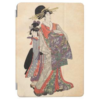Frau im bunten Kimono (Vintager Japanerdruck) iPad Air Hülle