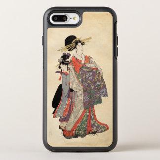 Frau im bunten Kimono (Vintager Japanerdruck) OtterBox Symmetry iPhone 8 Plus/7 Plus Hülle