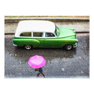 "Frau im Regen 24"" x 20"" Plakat Fotodruck"