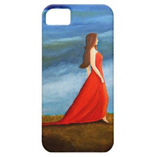 Frau im roten Kleid iPhone 5 Etui